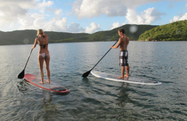 paddleboard at sunset