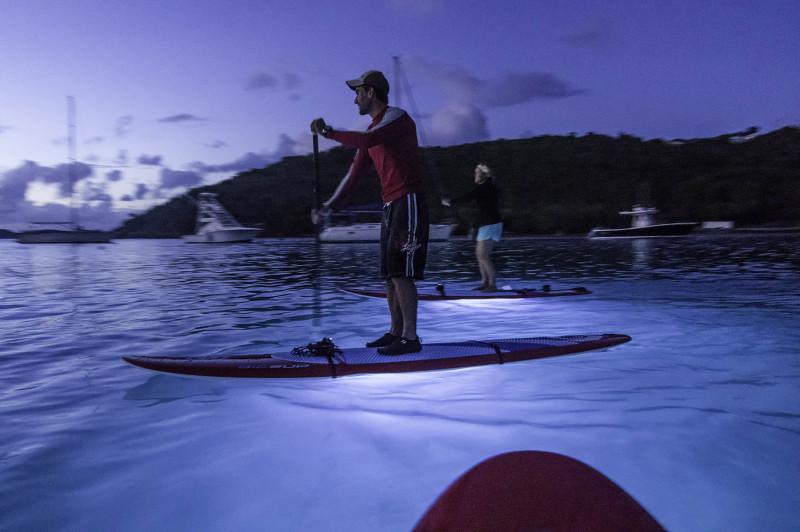 Standup paddle boarding in Cruz Bay, St. John, US Virgin Islands