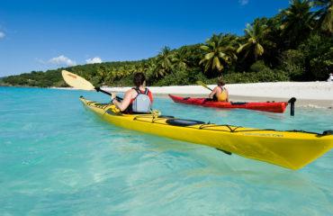 Kayakers at Trunk Bay